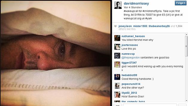 """The Walking Dead""-Star David Morrissey schaut recht verschlafen aus. (Bild: instagram.com/davidmorrissey)"
