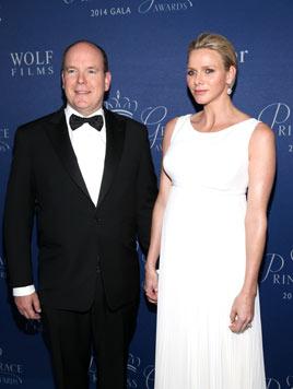 Fürst Albert und Charlene