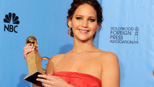 """2013 gewann Lawrence auch den Golden Globe für ihre Rolle in """"Silver Linings"""". (Bild: EPA)"""