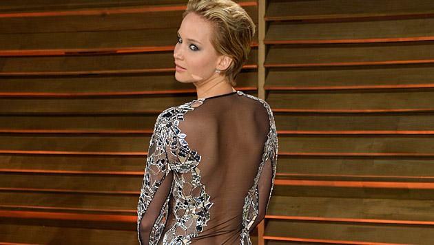 "Jennifer Lawrence bei der ""Vanity Fair""-Party 2014 (Bild: AP)"