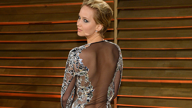"Jennifer Lawrence bei der ""Vanity Fair""-Party 2014 (Bild: AP)"
