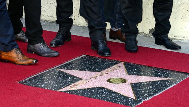 New Kids On The Block mit Hollywood-Stern geehrt (Bild: APA/EPA/MICHAEL NELSON)