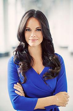 Sofia Hellqvist hat sich in eine künftige Prinzessin verwandelt. (Bild: Foto Erika Gerdemark, kungahuset.se)
