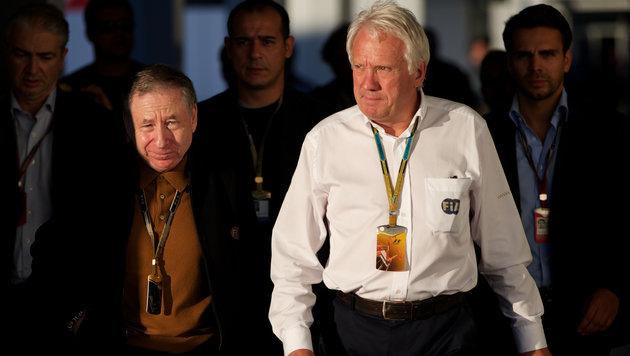 FIA-Präsident Jean Todt und Race Director Charlie Whiting (Bild: AP)