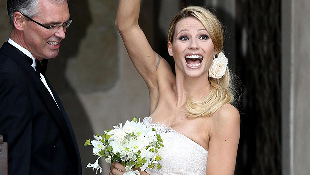 """Hunziker: """"Ich bin die glücklichste Frau der Welt"""" (Bild: APA/EPA/GIAMPAOLO MAGNI)"""