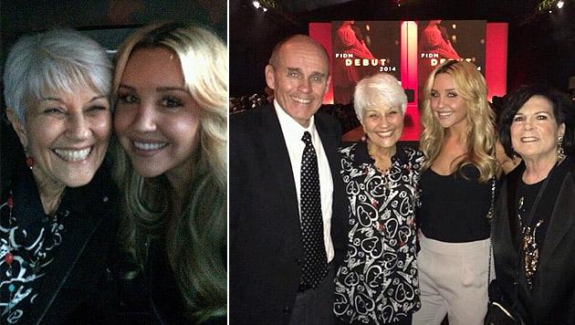 Im März ging es ihr zwischenzeitlich gut: Amanda mit ihren Eltern bei einer Veranstaltung (Bild: Instagram.com)
