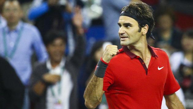 Roger Federer: 1000. Sieg, 81. Titel in Schanghai! (Bild: APA/EPA/DIEGO AZUBEL)