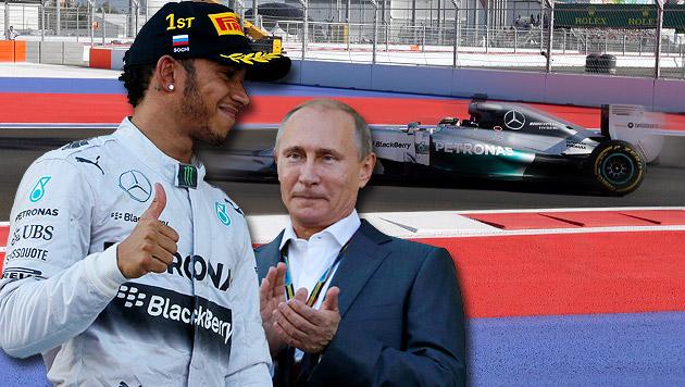 Lewis Hamilton siegt beim Grand Prix in Sotschi (Bild: AP, krone.at-Grafik)