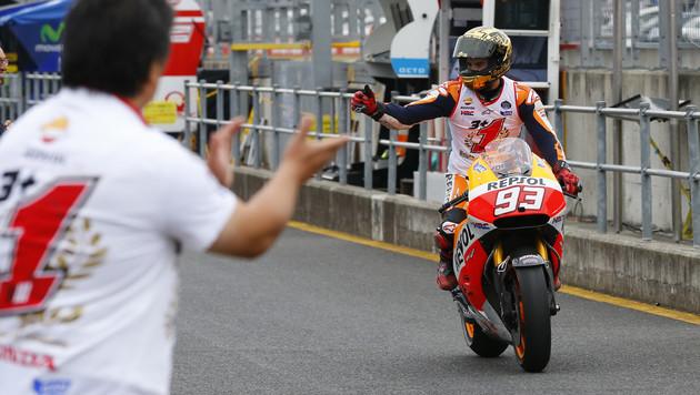 Marc Marquez wieder Weltmeister! Platz 2 reichte (Bild: AP)