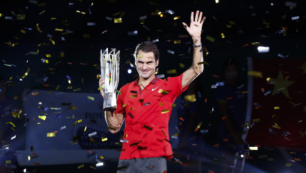 Roger Federer: 1000. Sieg, 81. Titel in Schanghai! (Bild: AP)