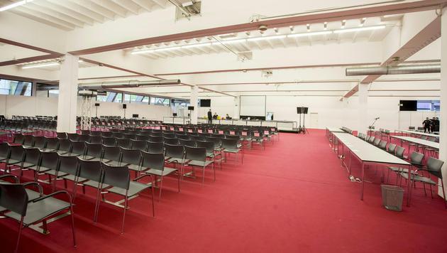 Massenprozess in Grazer Messehalle ausgelagert (Bild: APA/ERWIN SCHERIAU)
