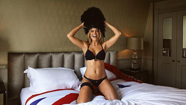 Frech geklaut? Sylvie als sexy Ausgabe der Grenadier Guards (Bild: Hunkemöller)