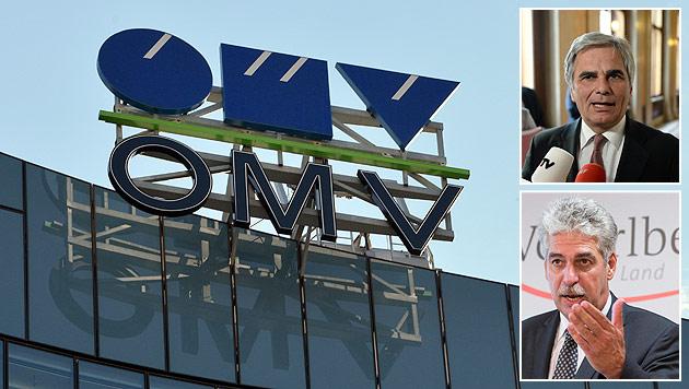 Turbulenzen bei der OMV, Kritik von Kanzler Faymann und Finanzminister Schelling (Bild: APA/HANS PUNZ, APA/DIETMAR STIPLOVSEK, APA/ROLAND SCHLAGER)