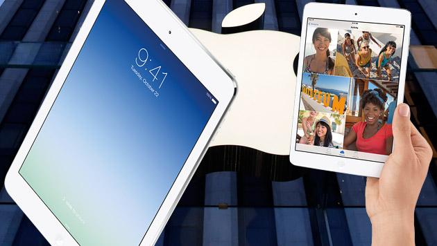 Apple verrät versehentlich Details zu neuen iPads (Bild: apple.com, AP, krone.at-Grafik)