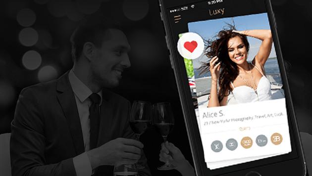 Neue Dating-App richtet sich an die Superreichen (Bild: onluxy.com)