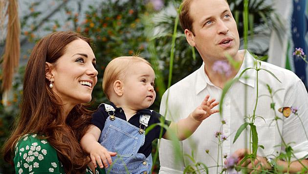 Der zweite Nachwuchs von Kate und William soll im April zur Welt kommen. (Bild: APA/EPA/John Stillwell)