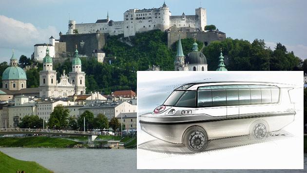 So sieht das neue Amphibienfahrzeug aus, das ab Mai in Salzburg zum Einsatz kommen wird. (Bild: Salzburger Schifffahrt, Nanne Mayer)