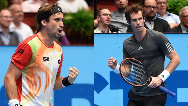 Andy Murray und David Ferrer im Semifinale (Bild: APA/HELMUT FOHRINGER)