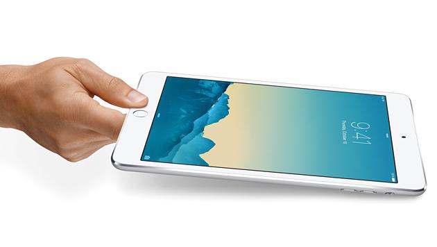 Wie das iPad Air 2 verfügt jetzt auch das iPad mini 3 über einen Fingerabdruck-Sensor. (Bild: Apple)