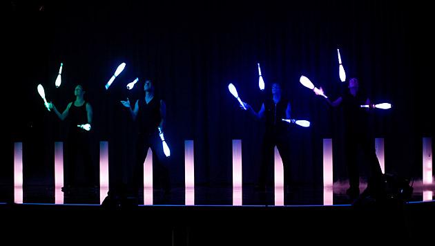 """Dieses Jahr waren die vier beim Zirkusfestival in Basel, wo sie den """"Young Star""""-Preis erhielten. (Bild: ORF/Milenko Badzic)"""