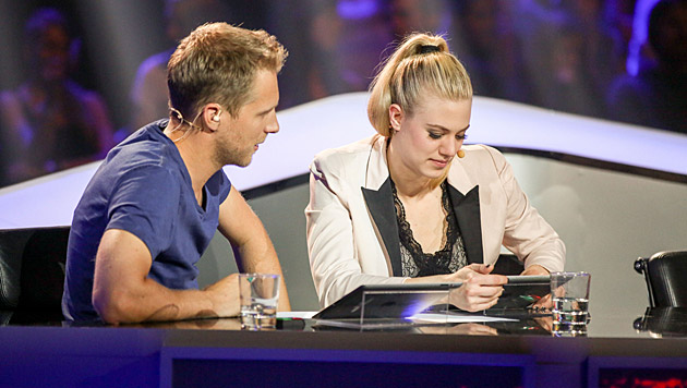 Oliver Pocher, Larissa Marolt (Bild: ORF/Milenko Badzic)