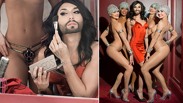 "Conchita erobert das ""Crazy Horse"" in Paris - hier in Szene gesetzt von Star-Fotograf André Rau. (Bild: André Rau, www.andrerau.com)"