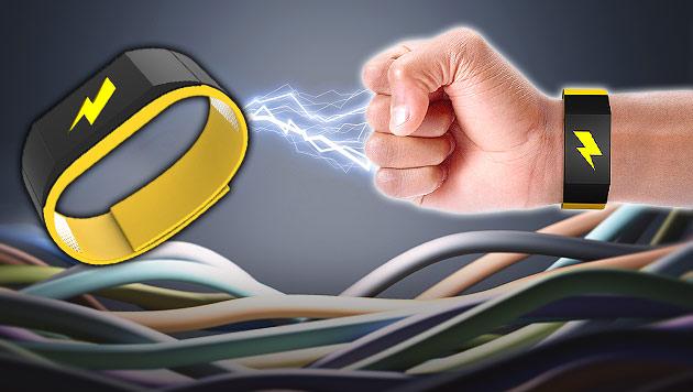 Elektroschock-Armband gegen Faulheit geht in Serie (Bild: pavlok.com, thinkstockphotos.de, krone.at-Grafik)