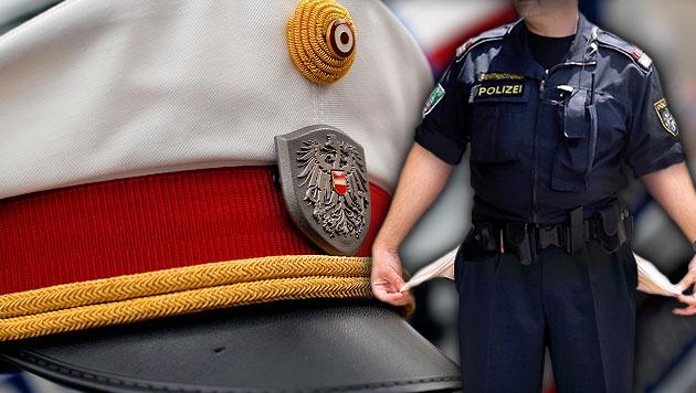 Nach dem Heer geht auch der Polizei das Geld aus (Bild: APA/GINDL, APA/HOCHMUTH, thinkstockphotos.de, krone.at-Grafik)