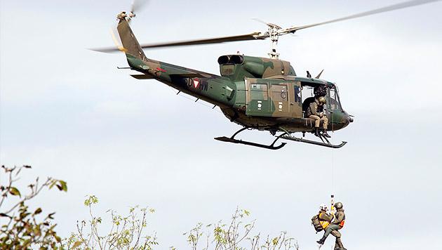Bundesheer-Hubschrauber musste notlanden (Bild: Bundesheer, Simader (Symbolbild))
