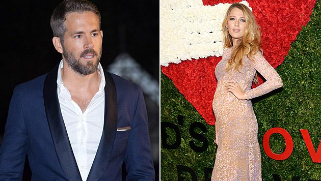 Ryan Reynolds scherzt über den Babynamen, Blake Lively schwärmt von der Schwangerschaft. (Bild: Evan Agostini/Invision/AP)