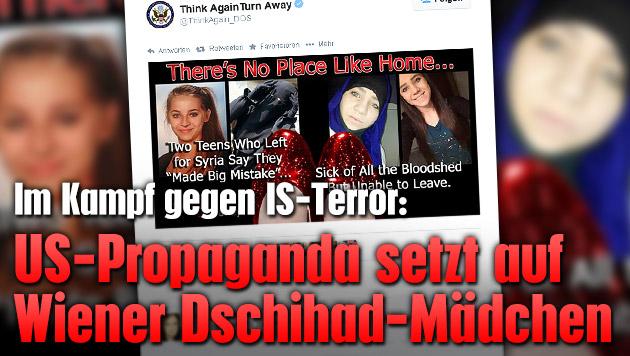 US-Propaganda setzt auf Wiener Dschihad-M�dchen (Bild: twitter.com/ThinkAgain_DOS)