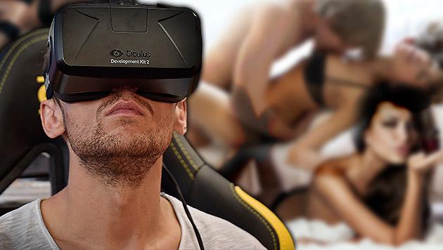 Virtual-Reality-Pornos für Oculus Rift kommen 2015 (Bild: AP, thinkstockphotos.de, krone.at-Grafik)