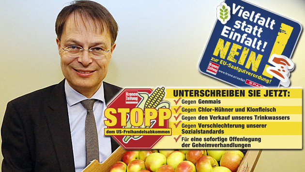 """Spar-Chef Gerhard Drexel: """"Ich bin stolz auf die """"Krone""""-Leser."""" (Bild: Martin A. Jöchl, krone.at-Grafik)"""