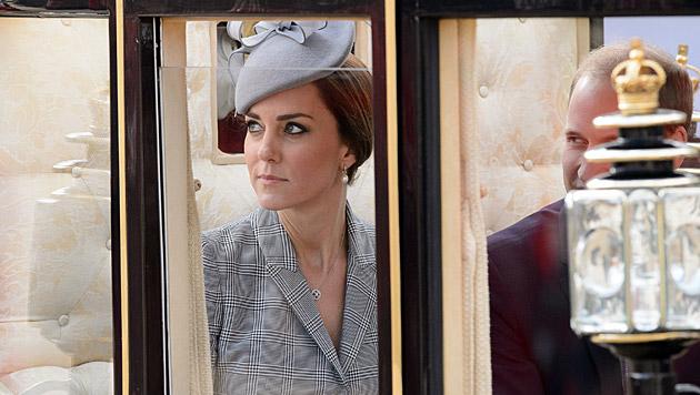 Die Herzogin bei ihrem Auftritt in London (Bild: AFP)