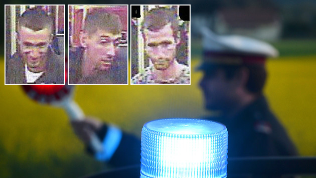 Nach diesen drei Verdächtigen fahndet die Wiener Exekutive. (Bild: Polizei, APA/BARBARA GINDL)
