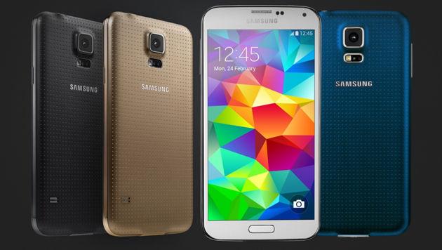 Optisch unterscheidet sich das Galaxy S5 Plus nicht vom Original. (Bild: Samsung)