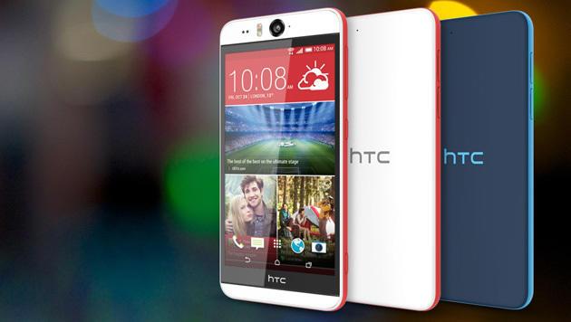 Das Desire Eye kommt mit Dual-LED-Blitz und 13-Megapixel-Kamera an der Front. (Bild: HTC)