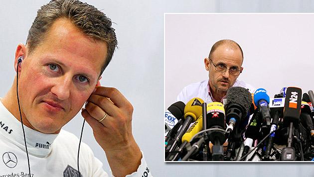 """Schumachers Arzt: """"Er wird Fortschritte machen"""" (Bild: APA/EPA/YOAN VALAT, APA/EPA/DIEGO AZUBEL)"""