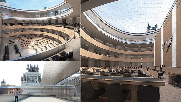 So wird das neue Parlament aussehen (Bild: APA/JABORNEGG & PALLFY_AXIS)