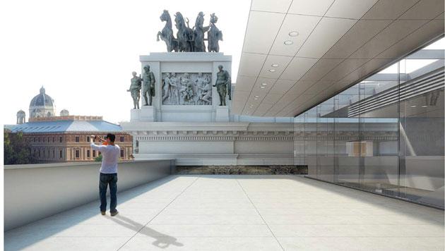 Der Dachbereich wird vollständig saniert. (Bild: APA/JABORNEGG & PALLFY_AXIS)