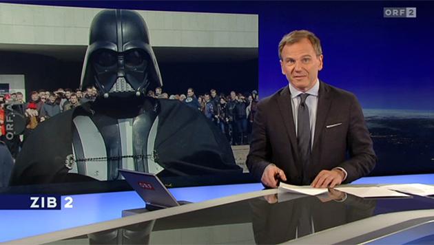 ... 'Darth Vader' schaut nämlich so aus.' (Bild: tvthek.orf.at)