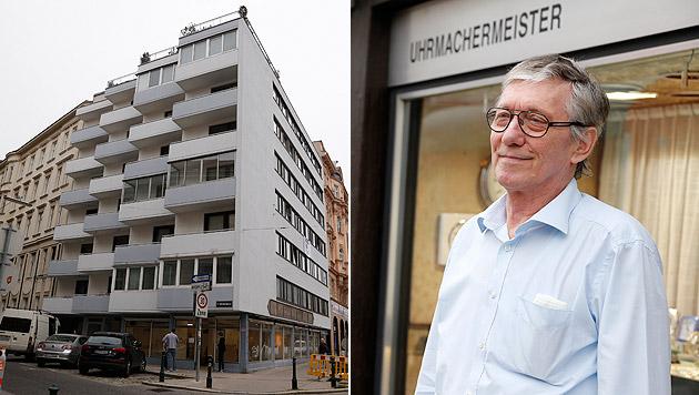 Anrainer Hans Sirucek klagt gegen die Errichtung des Drogenzentrums in Alsergrund. (Bild: Zwefo)