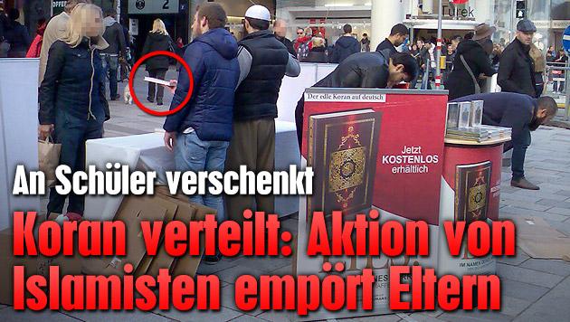 Koran verteilt: Islamisten-Aktion emp�rt Eltern (Bild: TS)
