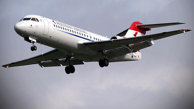 Eine Fokker 70 der Austrian Airlines (Symbolbild) (Bild: Andi Schiel)