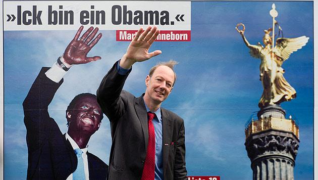 Die PARTEI hat nun auch einen Ableger in Österreich gegründet. Im Bild: Parteichef Martin Sonneborn (Bild: dpa/Soeren Sache)