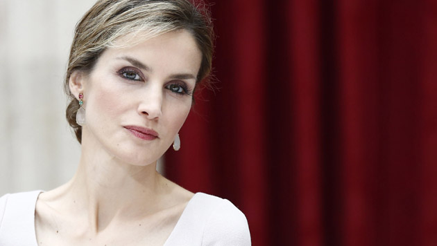 Königin Letizia ohne Felipe auf Besuch in Wien (Bild: APA/EPA/ETIENNE LAURENT)