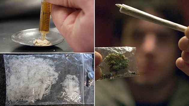 2015 wieder mehr Drogentote in Österreich (Bild: APA/POLIZEI ROHRBACH, dpa/Boris Roessler, dpa/Friso Gentsch)