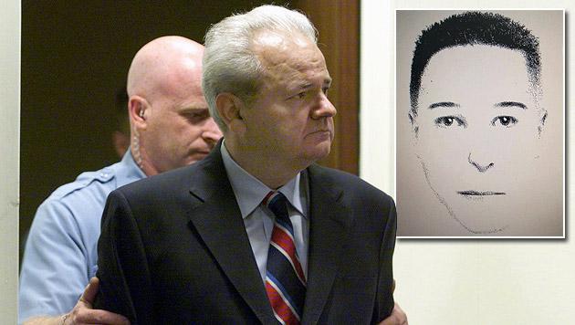 Auch von Slobodan Miloševic (mi.) führen Spuren zur Hypo; re.: Phantombild des Margetic-Attentäters (Bild: AP, Polizei)
