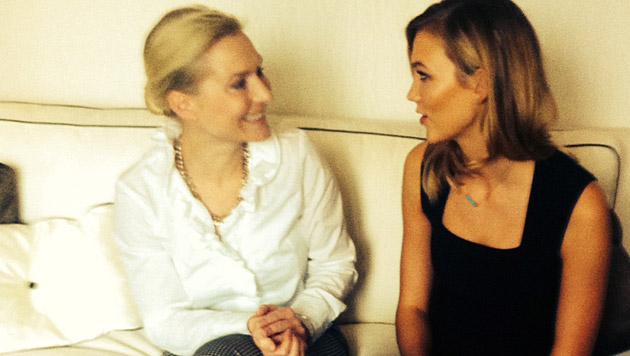 Karlie Kloss mit Anna Richter-Trummer (Bild: Anna Richter-Trummer)