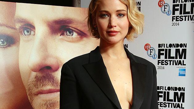 """Film-Schönheit Jennifer Lawrence bei einem Auftritt beim """"BFI London Film Festival"""" (Bild: AP)"""